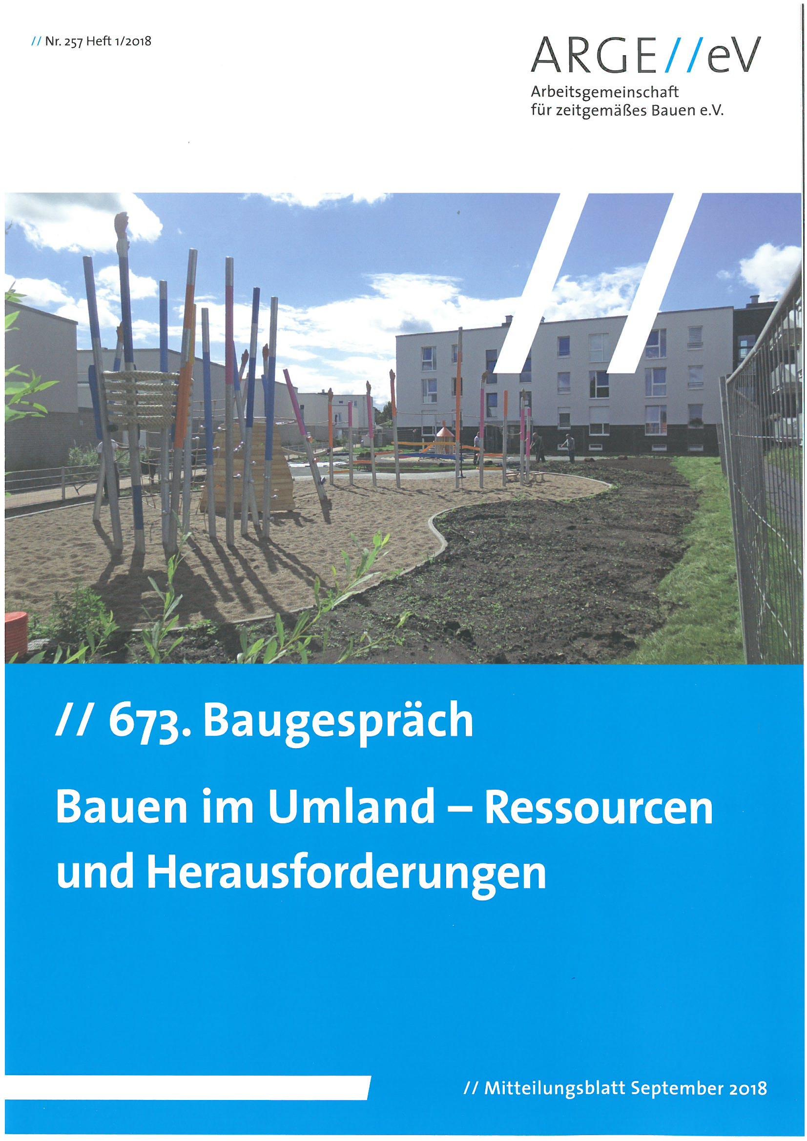 Bauen im Umland – Ressourcen und Herausforderungen